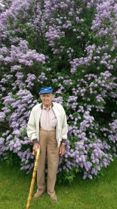 Dad and lilacs